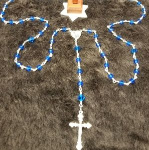 Swarovski Blue Crystal Rosary.